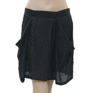 White Chocolate Sequin Beaded Embellished Skirt M